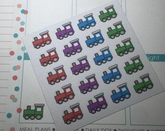 Set of 20 - Train Stickers