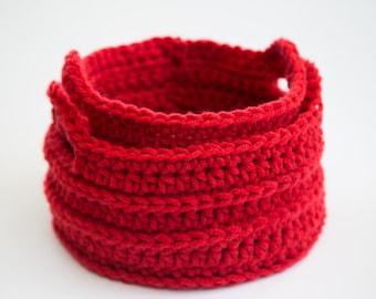 Handmade Crochet Round Baskets (set of 2)