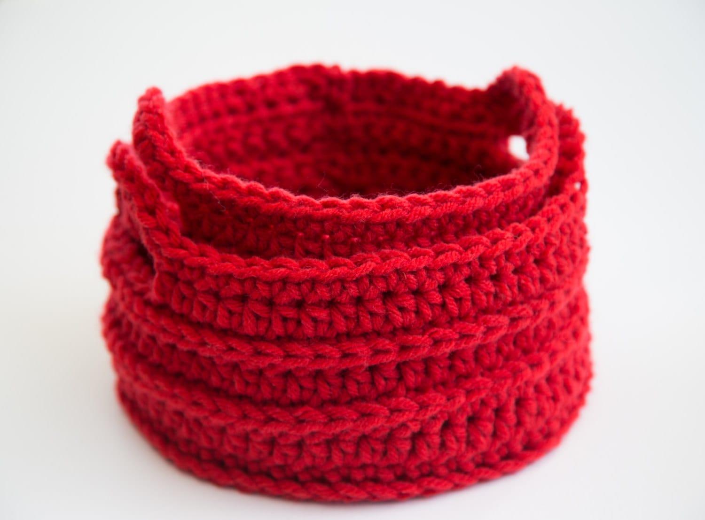 Handmade Crochet Basket : Handmade crochet round baskets set of