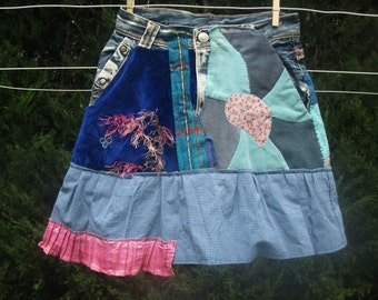 patch girl skirt