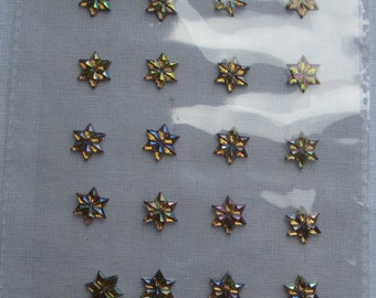 Gold Crystal Star Stickers