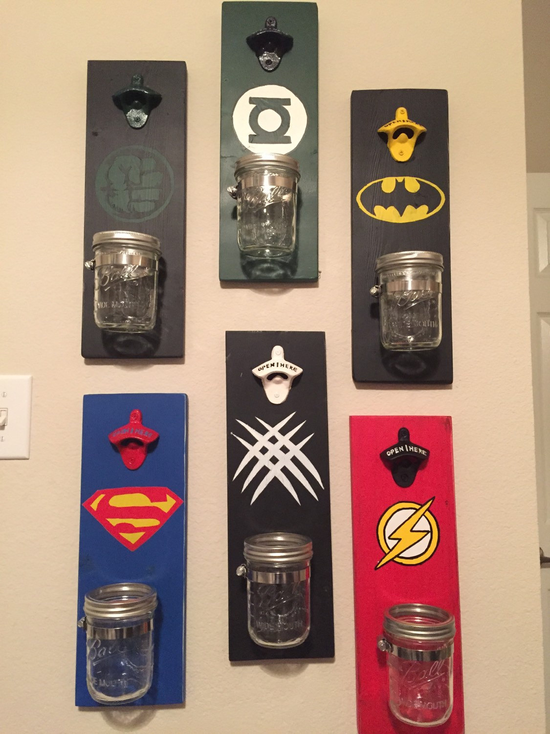 bottle opener fathers day gift superhero by turquoiseowldesign. Black Bedroom Furniture Sets. Home Design Ideas