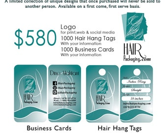 Logo, Hair Hang Tags & Business Cards - Ready to Go Design #02