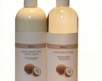 Organic Coconut Oil 76 Degree 100% pure coconut oil extracted from coconut meat from 4 fl.oz up to 7 lbs
