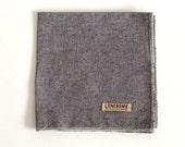 Slate Chambray Cotton Pocket Square