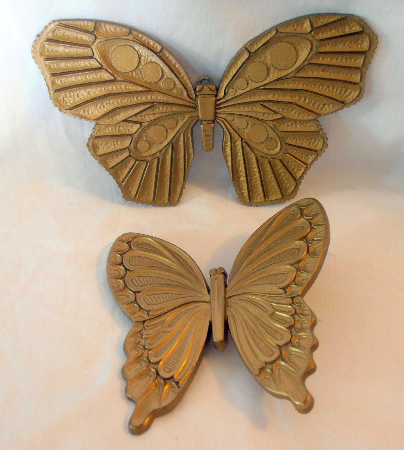 Hanging Butterfly Wall Decor : Butterflies wall hanging art vintage