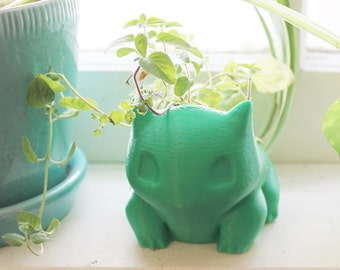 Large Bulbasaur Planter from Pokemon, perfect for herbs and gardening