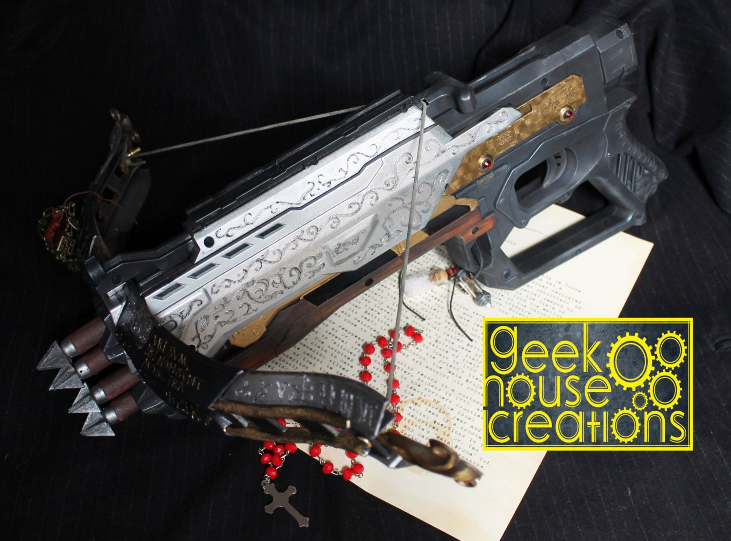 how to make a nerf crossbow