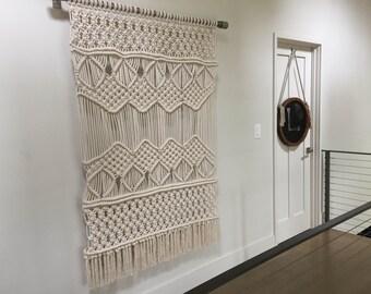 How To Make A Macrame Wall Hanging macrame wall hanging | etsy