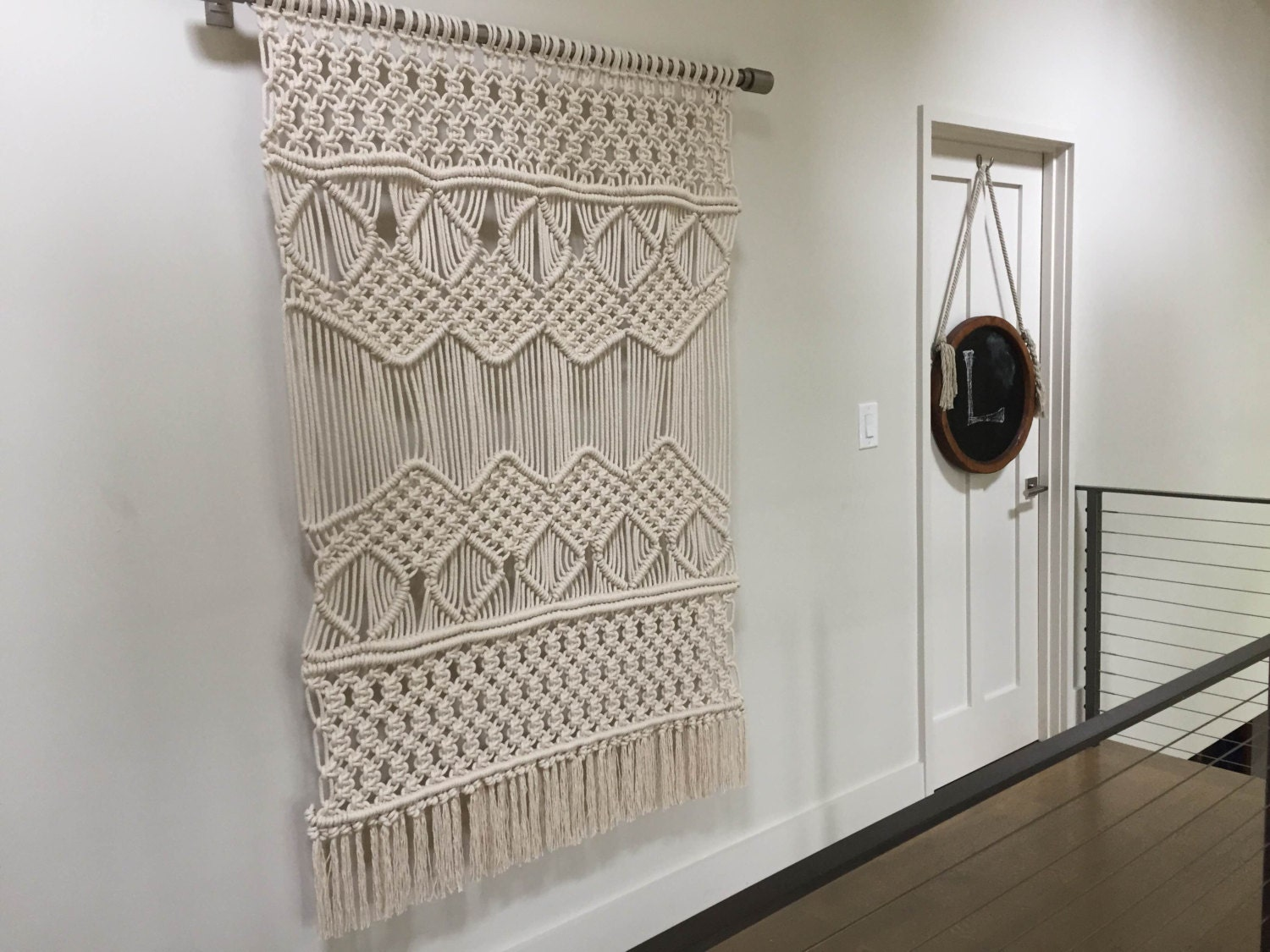 Large macrame wall hanging tapestry weaving for Wall hanging images