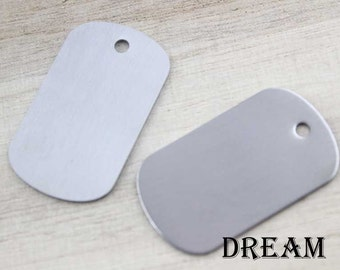 Standard Military Dog Tag Blanks-Stamping Dogtag Pendant-Stainless Steel