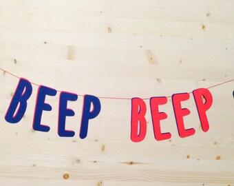 Beep Beep Car Banner