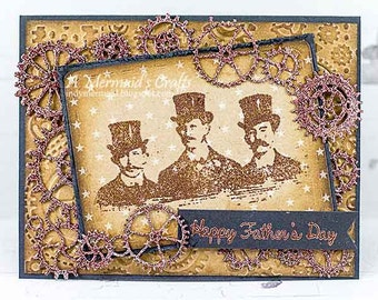 Handmade Steampunk Father's Day Card