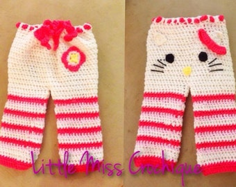 Crochet Hello Kitty Pants