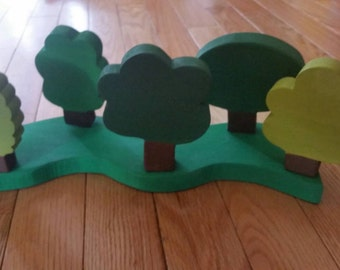 Wooden tree forest