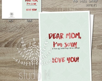 funny mother's day card, printable mother's day card, mum card, mothers day greeting card, gift for mum,INSTANT DOWNLOAD