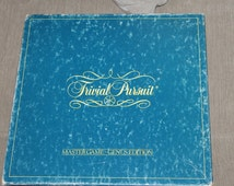 Trivial Pursuit Board Game, Vintage Board Game, 1981 Knowledge game, Trivial Pursuit Master Genius Edition, Educational Game, Ages Adults