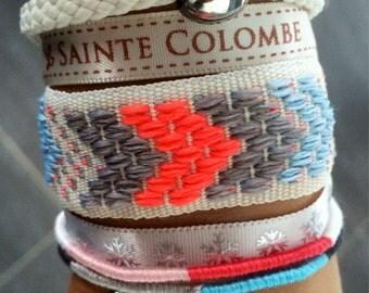 Woman white summer Cuff Bracelet