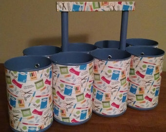 FREE SHIPPING- Classroom Caddy- Pencil Holder - Classroom Organization - Teacher Gift