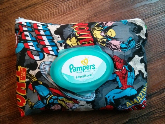 marvel super hero diaper wipe holder purse bag. Black Bedroom Furniture Sets. Home Design Ideas