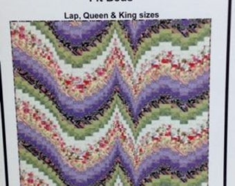 MORNING MELODY Bargello Quilt Pattern for Lap, Queen and King bed sizes