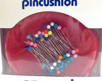GRABBIT Magnetic Pin Cushion with Pins - Pick Up Dropped Pins Easily!