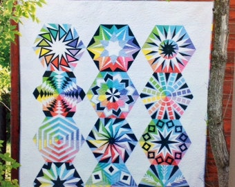 "ARCADIA AVENUE - Block of the Month Quilt Pattern - 72"" x 90"""