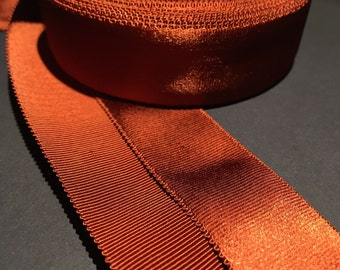 Molasses Satin Faced Vintage Grosgrain - 2,5cm - USA
