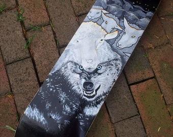 SALE!!! The Cloak of Invisibility_Hand Painted Skateboard Deck