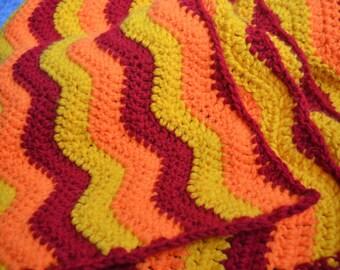 Crochet Wave Afghan