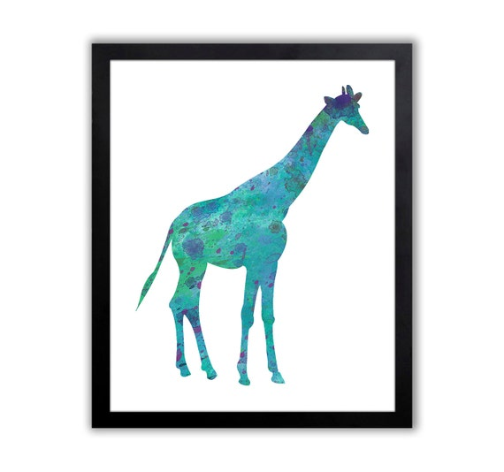 Giraffe Nursery Art - Girl Nursery Art - Giraffe Decor - Animal Art Print