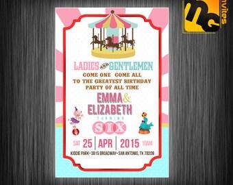Carnival theme birthday, Carnival invitation, Carnival theme invite