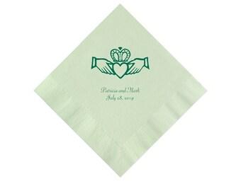 Claddagh Design Irish Celtic Wedding Napkins Personalized Set of 100 Napkins