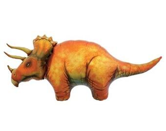 Triceratops Dinosaur Balloon - Jumbo Foil Mylar Balloon - Dino Party