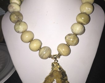 African Jade necklace(SOLD)