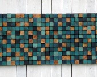 Reclaimed Wood Wall Sculpture - Wood Wall Art