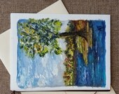 11# Original hand painted greeting card Hand made card Art card Original hand painted card Landscape painting on canvas card Birthday card