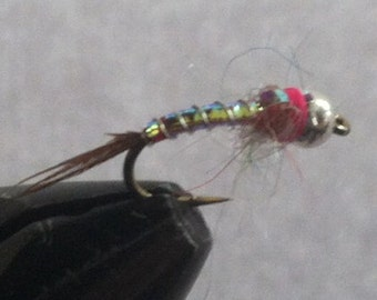 Three Rainbow Warrior Fly, Rainbow Warrior Fly Pattern, Made in the USA, Hookers Fly Shop, Handtied Flies, Fly fishing Flies