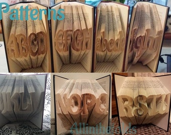 Aladin Font Full alphabet book folding patterns. Make any word DIY
