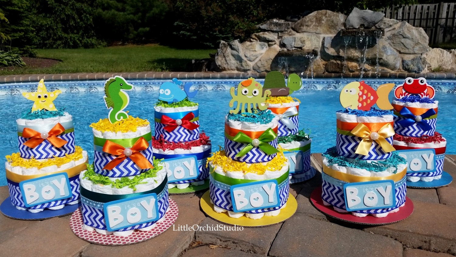 under the sea baby shower it 39 s a boy by littleorchidstudio