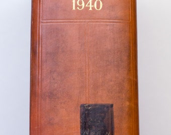 Vintage Book - 1940 Who's Who Hardcover Book - Biographical Dictionary - London Adams & Charles Black, New York Macmillan Company
