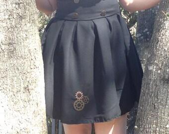 steam punk high waist dress