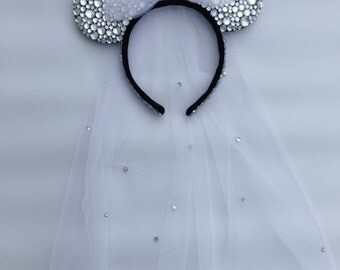 Bridal Minnie Mouse Ears
