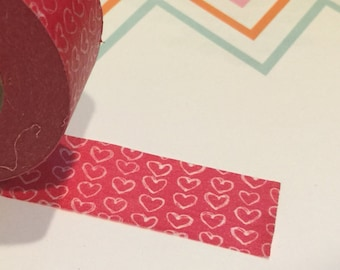 wide doodled hearts. full new roll