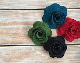 "3 Falynn Rose Flowers - 2"" Flower Head - Choose Your Color - Hair Accessory Supplies - DIY - Create Your Own Accessories"