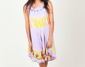 Vintage Multicolored dress with cute embellishing