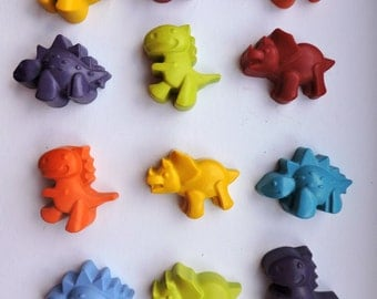 12 Individual Dinosaur Crayon Packs, Kids Party Favour, Party Favours
