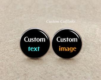 Custom Cufflinks Custom image Cufflinks, Custom text cufflinks, Weddings Cufflinks,Cufflinks, Custom wedding cufflinks