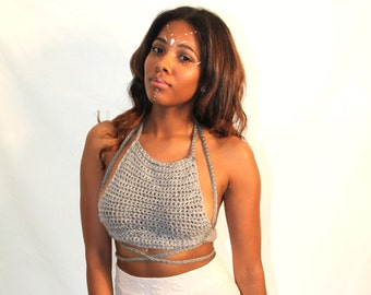 "B.Bazaar ""Mrz. Wright' Crocheted Bralette"