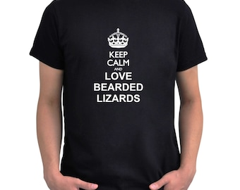 Keep calm and love Bearded Lizard T-Shirt